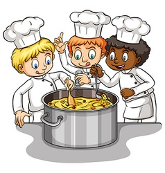 A group of chefs idiom vector