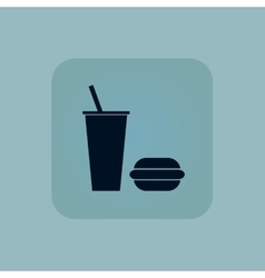 Pale blue fast food icon vector