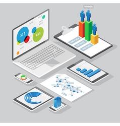 Computer infographics design elements vector