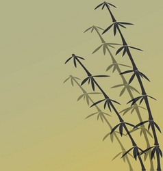 Japanese bamboo background vector