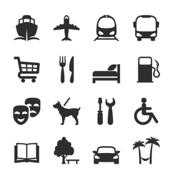 Set of icons for locations and services vector