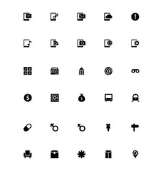Mini icons 9 vector