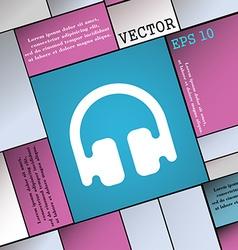 Headphones earphones icon sign modern flat style vector