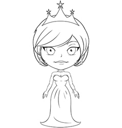 Princess coloring page 3 vector