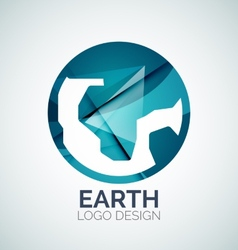 Earth logo design made of color pieces vector