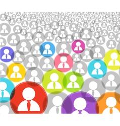 Social media account icons vector