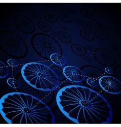 Abstract wheels vector