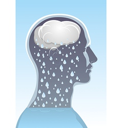 Mental health headache vector