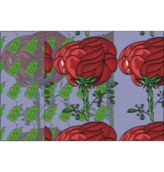 Floral pattern repeat flower bud on a stem roses vector