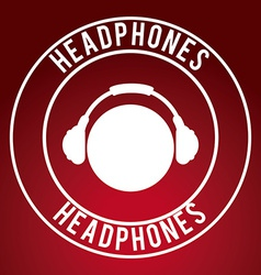 Headphones design vector