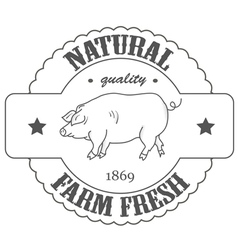 Quality farm fresh vector