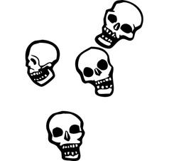 Falling skulls vector
