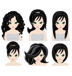 Hairstyles for black hair vector