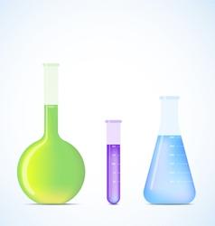 Science flasks vector