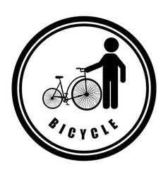 Bicycle sport vector