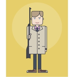 Line style showing man in coat vector