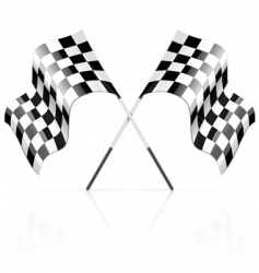 Racing sport start finish signs vector