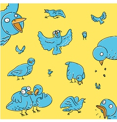 Flock of pigeons vector