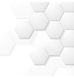 Abstract grey hexagons tech design vector