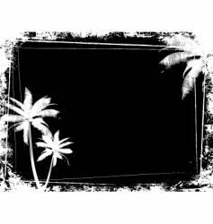 Grunge palm tree background vector