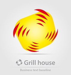 Grill house business icon vector