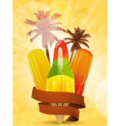 Tropical ice lollies vector