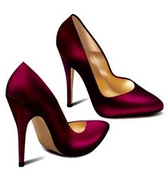 Purple high heels vector