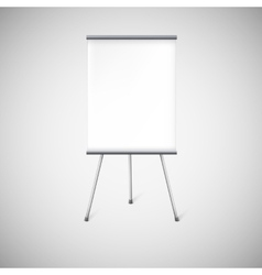 Blank flipchart or advertising stand vector