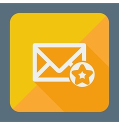 Mail icon simple star flat design vector