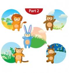 Animals costumes vector