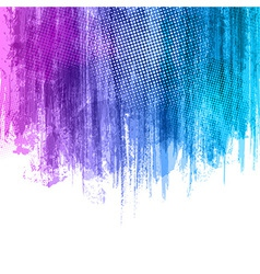 Blue violet paint splashes gradient background vector