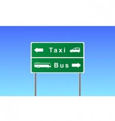 Transport sign vector