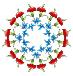 Ottoman art flowers twenty six vector