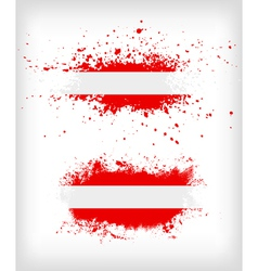 Grunge austrian ink splattered flag vector