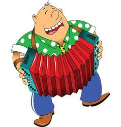 Cartoon accordion player vector
