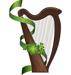 St patricks day harp vector