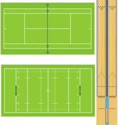 Sportsfields vector