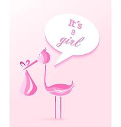 Baby shower girl invitation card design vector