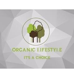 Fresh farm organic product poster design retro vector
