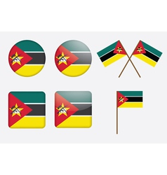 Badges with flag of mozambique vector