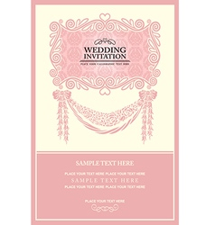 Vintage background wedding invitation vector