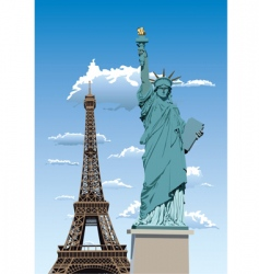 Statue of liberty in paris vector