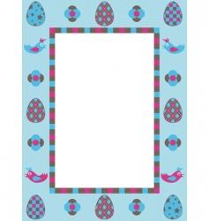 Easter frame decoration vector