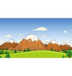 Mountains landscape vector