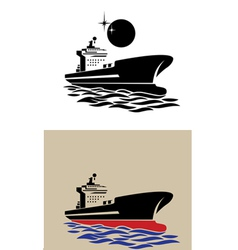 Transport ship symbol vector