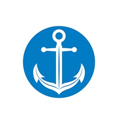 Anchor symbol monochrome icon vector