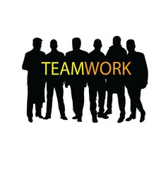 Teamwork silhouette vector
