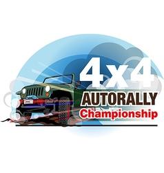 Auto rally championship vector