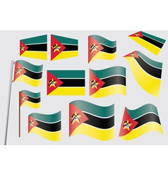 Flags of mozambique vector