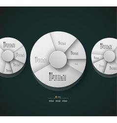 Radial diagram design template vector